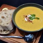 Marbecks' spicy Thai carrot and peanut soup. Photo by Peter McIntosh.